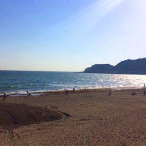 会場から海まで徒歩10分